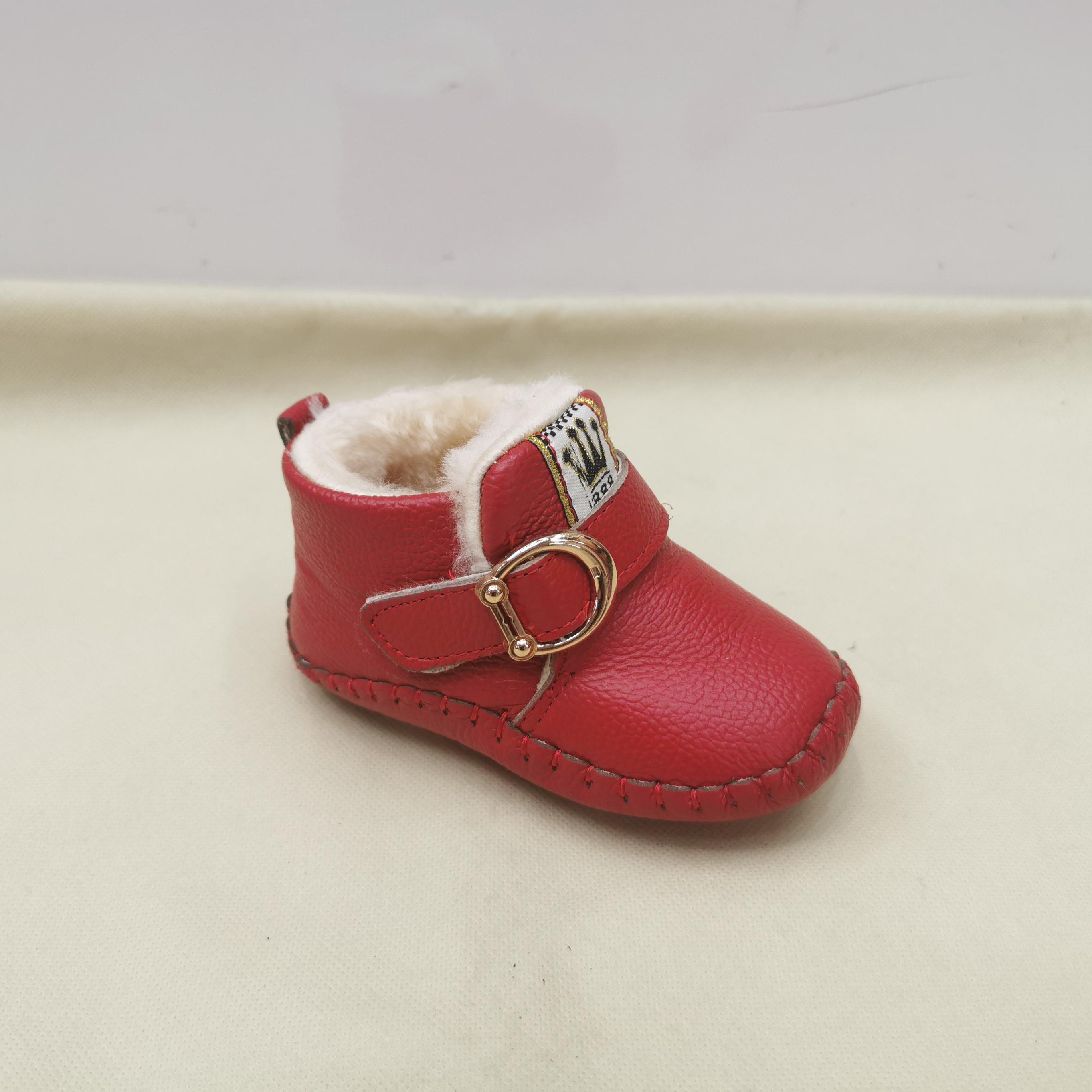 真皮婴儿软底棉鞋