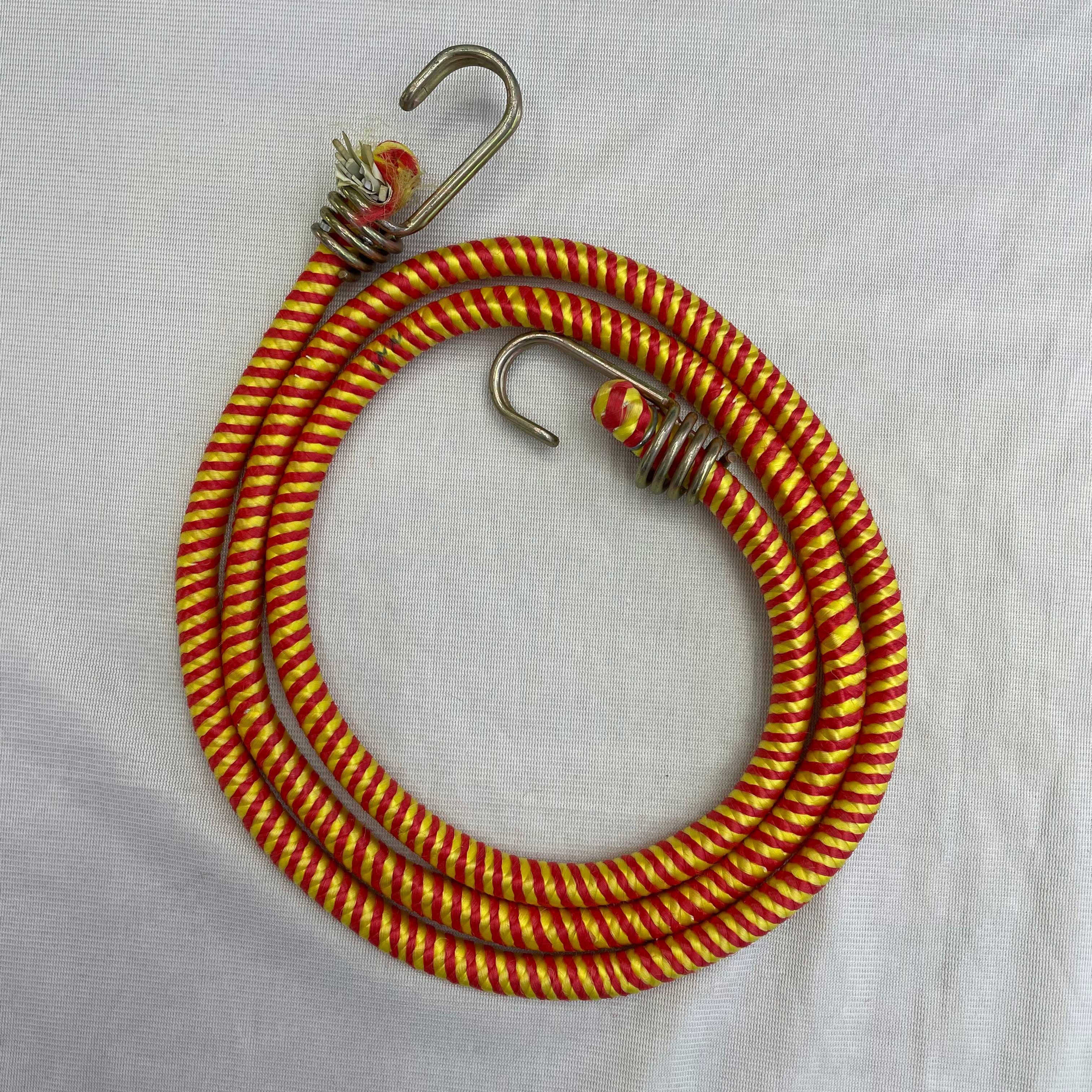 厂家直销螺纹带双钩批发橡胶皮松紧摩托用品用绳配绳可定制颜色