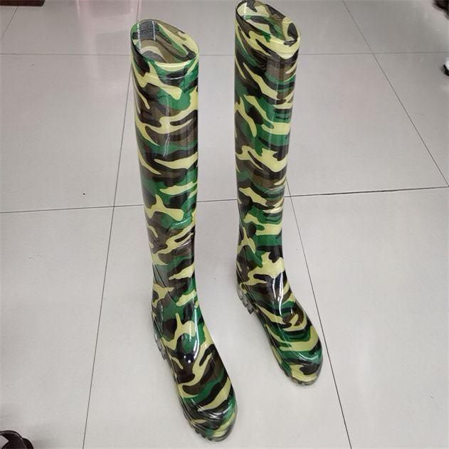 批发防水防滑劳保雨靴耐磨耐酸碱农活水鞋养殖水产男士高筒雨鞋6111