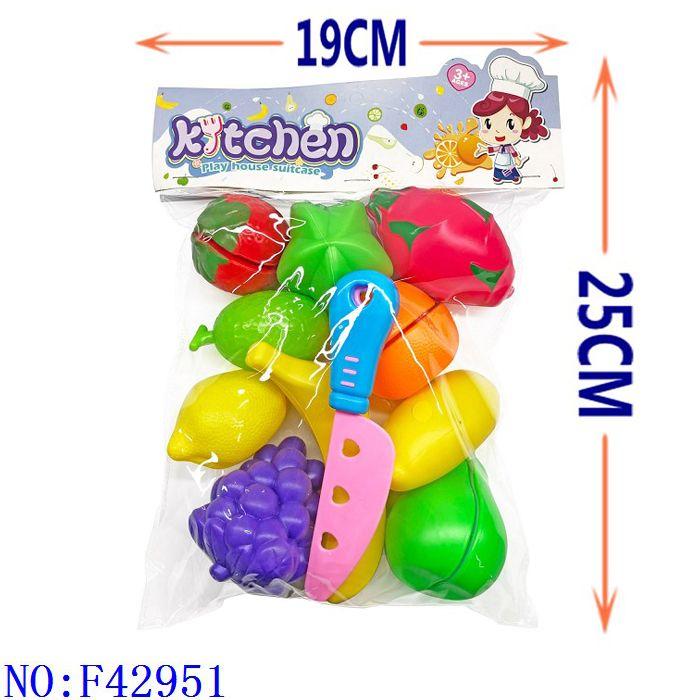 过家家水果   角色扮演益智仿真男孩女孩食品过家家玩具跨境专供义乌小商品外贸批发  F42951