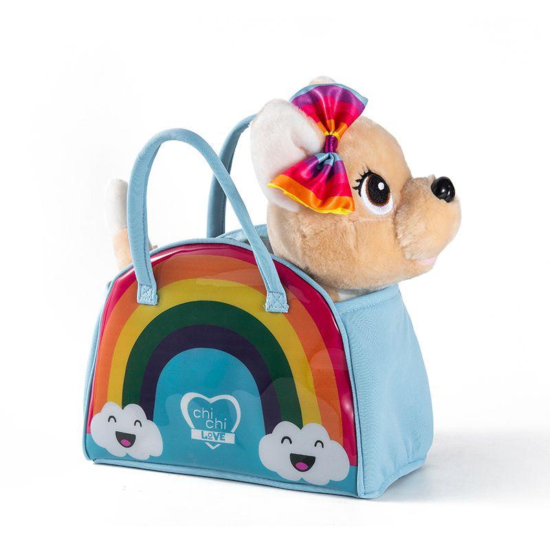 时尚包包宠物带英文音乐小狗 儿童生日玩具 牵绳电动毛绒