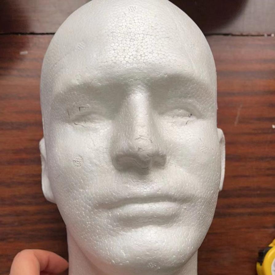 男人头模泡沫模特头帽子假发头饰展示道具