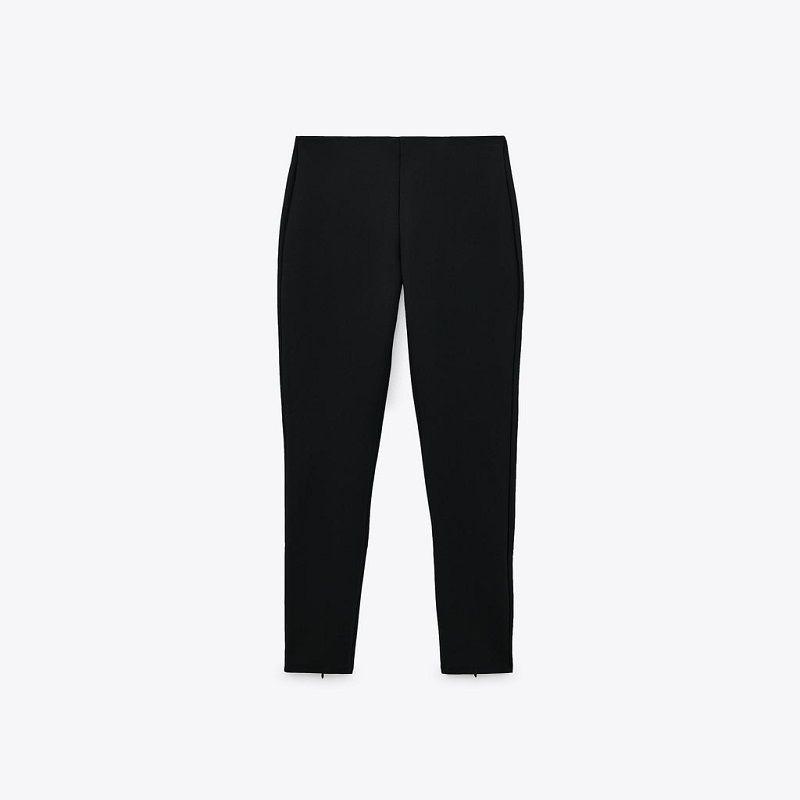 韩式宽松八分打底裤女外穿春夏季薄款黑色高腰裤22