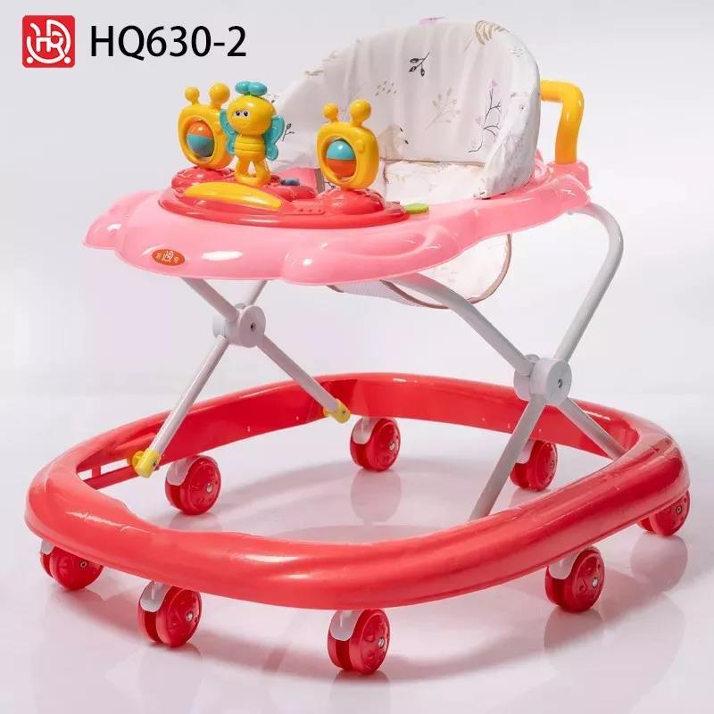 婴儿学步车学走路车防止o型腿7-18月使用卡通蜜蜂