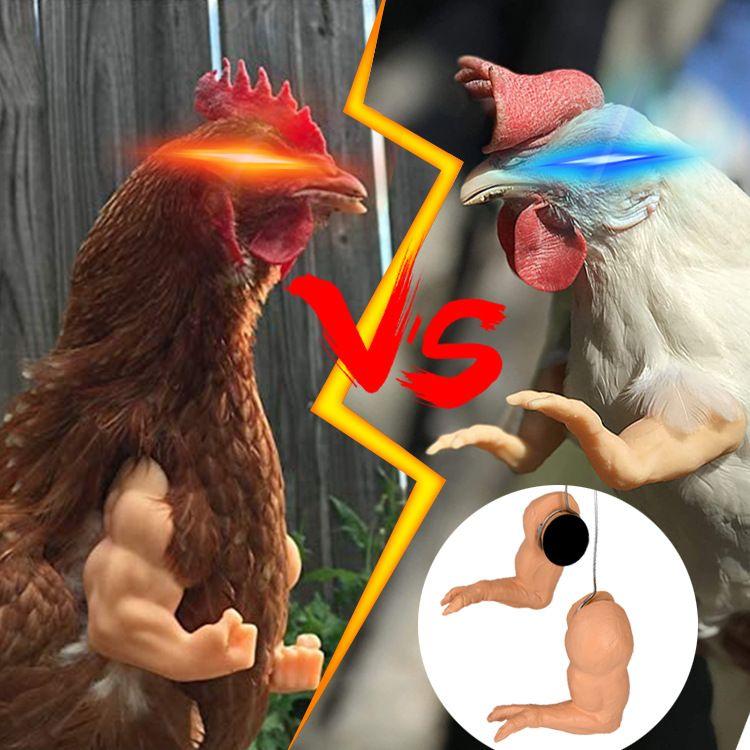 hulk arms for chicken外贸新品恶作剧鸡臂玩具恐龙手肌肉鸡手臂
