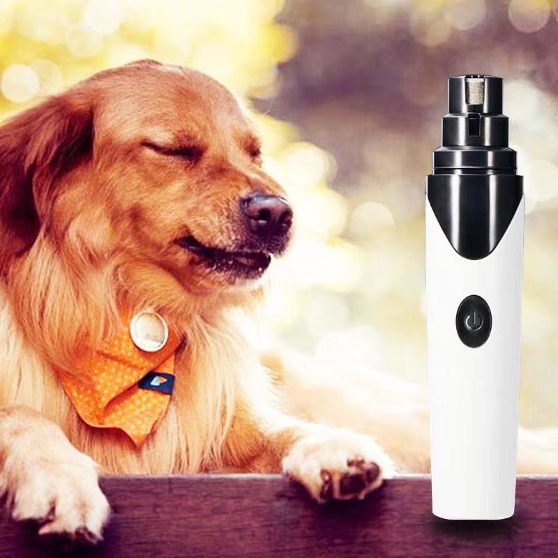 跨境新款 狗猫电动自动修甲器 USB充电指甲剪 工厂直销