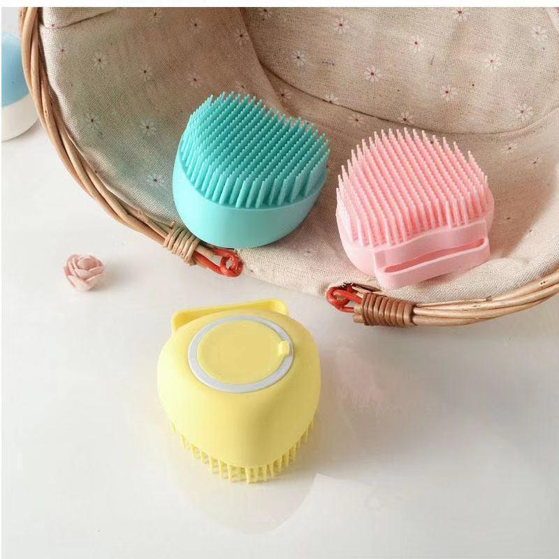 婴儿宠物洗澡神器按摩刷 安全宝宝软毛洗头刷 沐浴家用硅胶洗澡刷