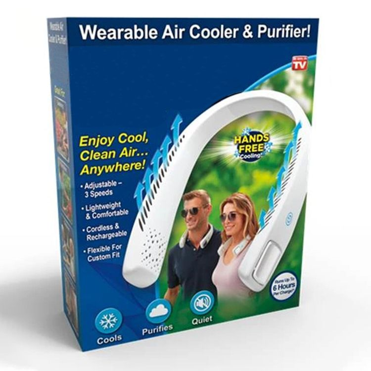跨境新品 ARCLIC USB运动风扇充电无叶小型电风扇 便携式挂脖风扇