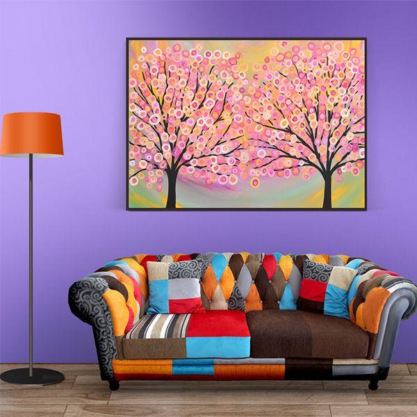 花卉手绘油画客厅装饰画玄关挂画沙发背景墙壁画过道北欧简约肌理画