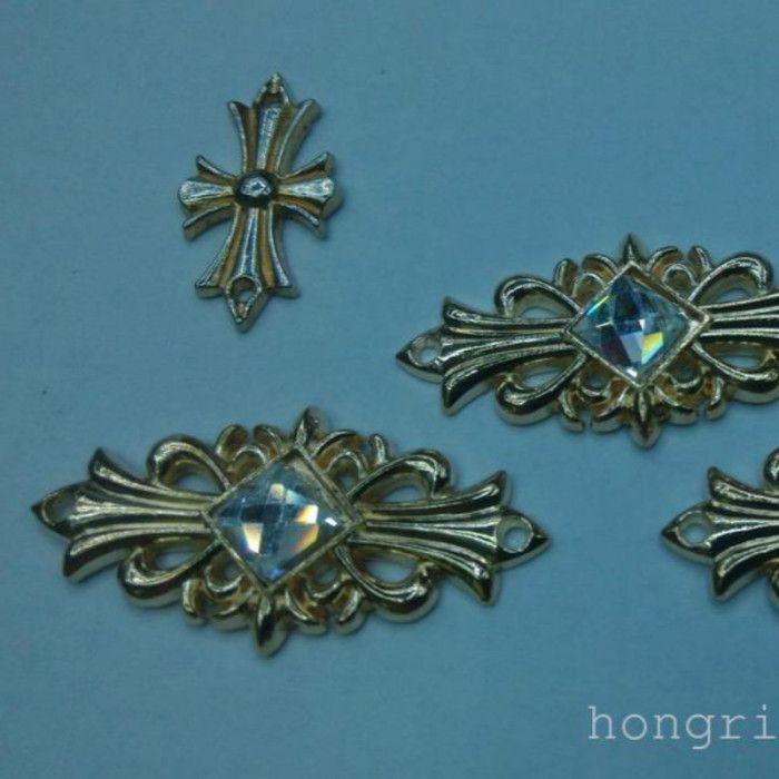 各种花造型带钻合金烫片 铜合金烫片