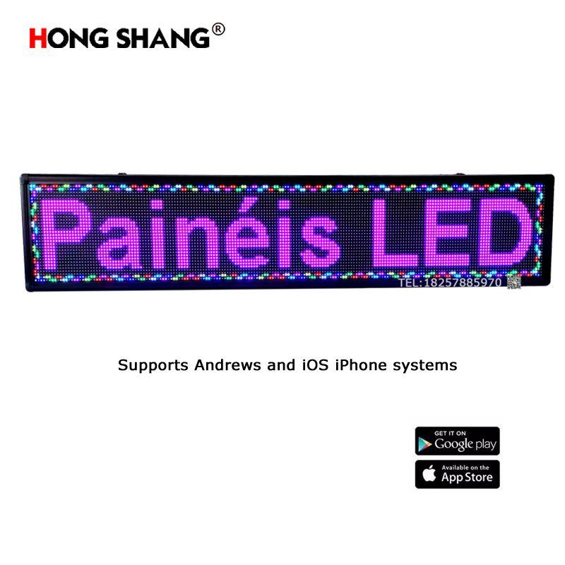 LED显示屏户外电子门头广告牌滚动字幕P10单双色室内七彩手机控制