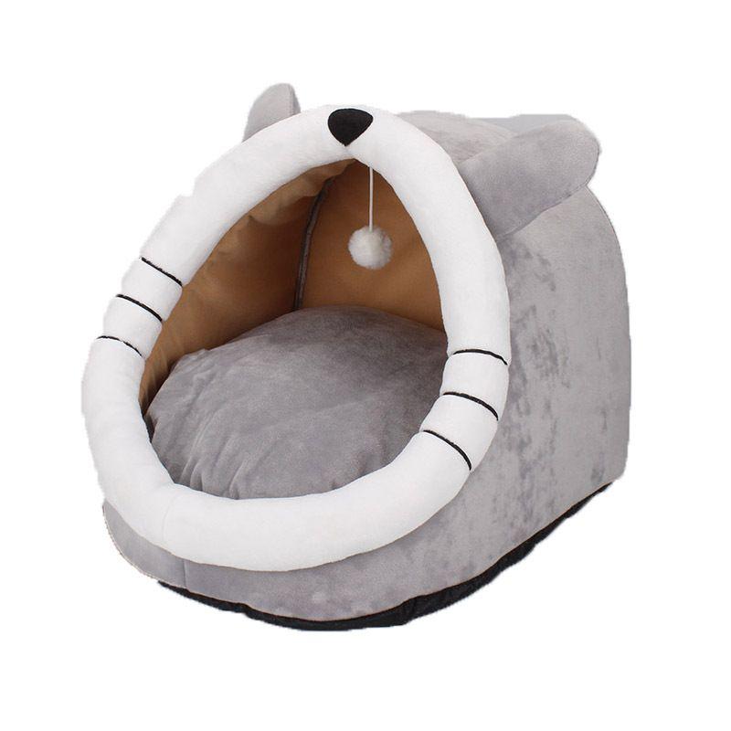 宠物猫窝封闭式猫窝狗窝冬季加绒一件代发工厂可拆洗宠物猫窝