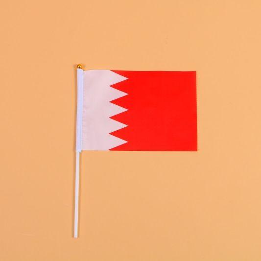 14*21巴林8号手摇旗带杆子外国世界旗