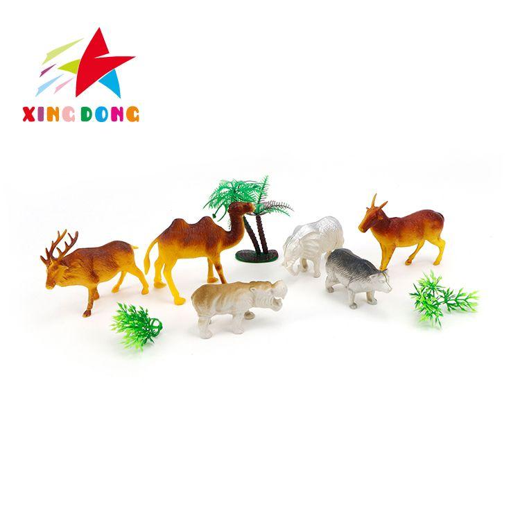 儿童玩具 动物植物模型 仿真动植物 鹿 骆驼 山羊