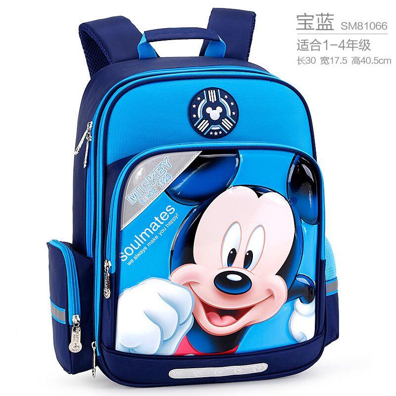 正版迪士尼儿童卡通背包休闲双肩书包学生简易时尚卡通书包批发一件代发112