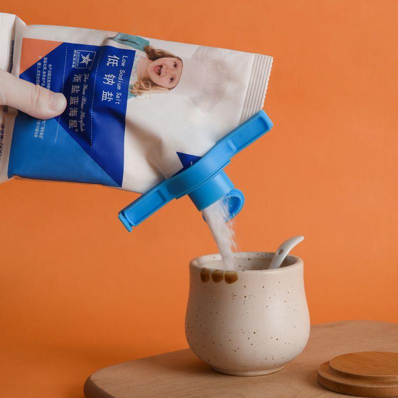 梵特 出料嘴封口夹食物塑料袋密封夹 食品食物保鲜防潮封口夹厂家