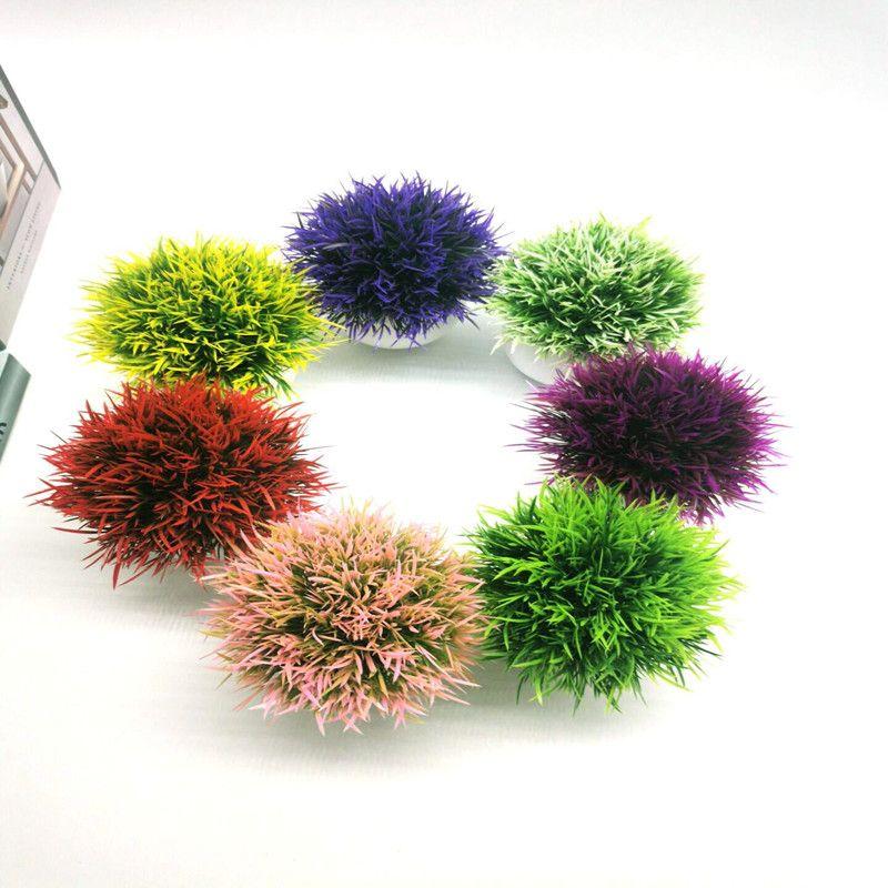 仿真植物半球凤尾草盆栽室内桌面绿植盆景摆设家居店铺橱窗小摆件