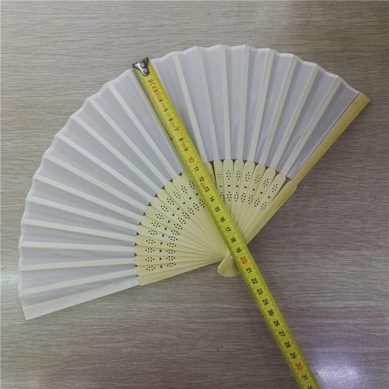 素面布扇 女扇 白布扇 折扇 空白扇子 素色扇子2