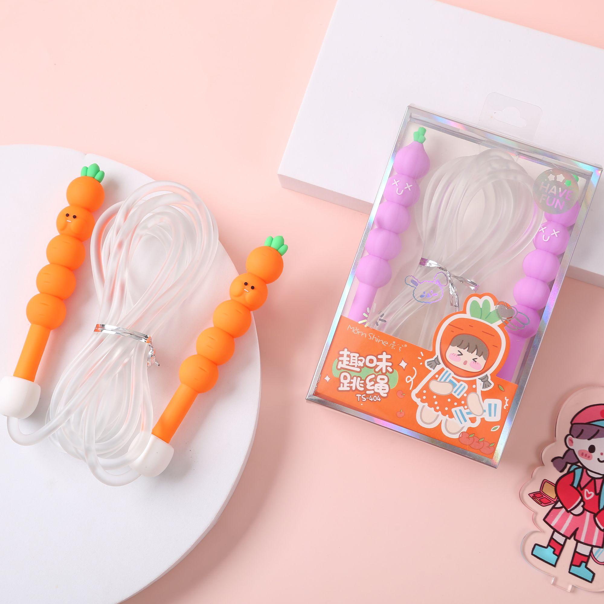晨兮文具卡通水果造型男女儿童学生厂家直销可爱萌系跳绳