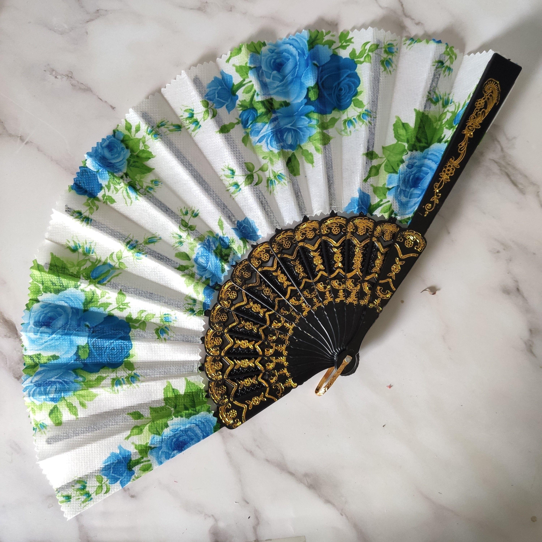 塑料扇,花边扇 女士扇 工艺扇欧美扇秋水扇 无纺布扇