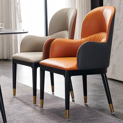 吕字家具-北欧餐椅现代家用餐厅椅子酒吧办公椅子酒店宾馆靠背凳子休闲创意网红沙发椅化妆凳