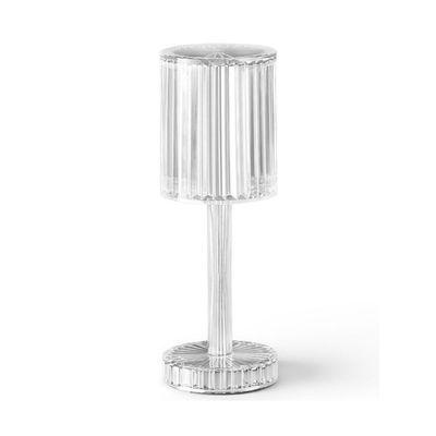西班牙浪漫小夜灯西餐厅卧室水晶触摸便携式家居氛围灯水晶台灯