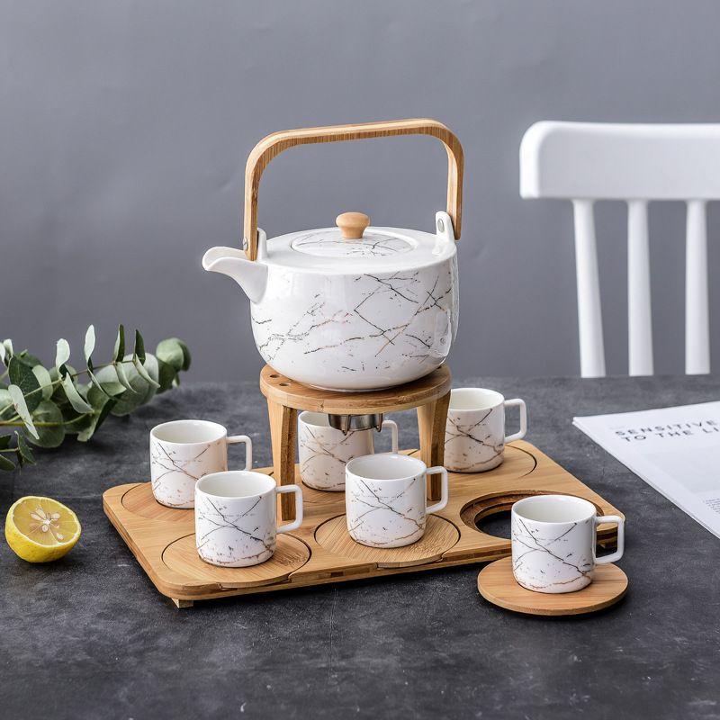 陶瓷花茶具套装