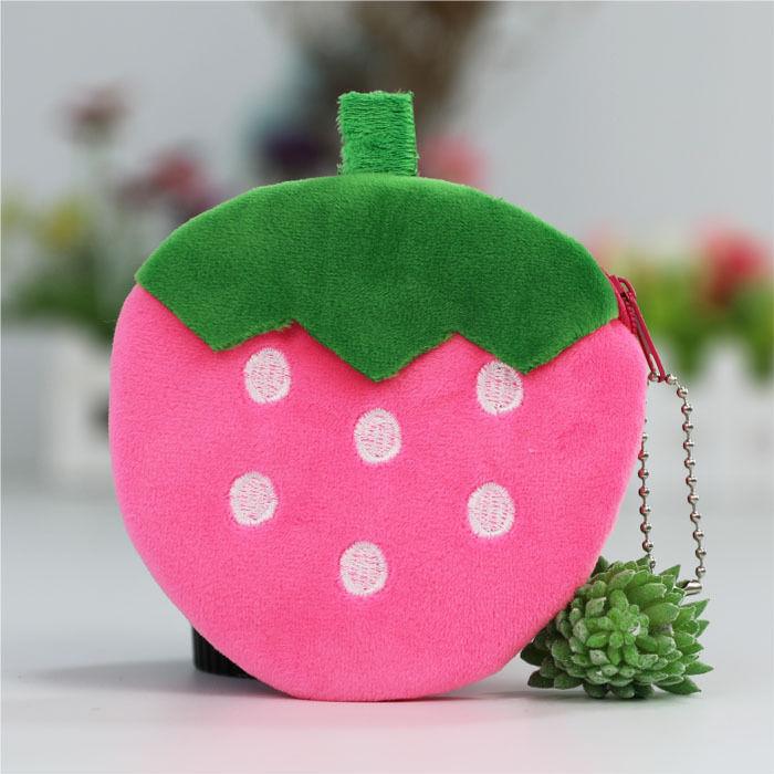 毛绒玩具小包 草莓包,卡通零儿童钱包