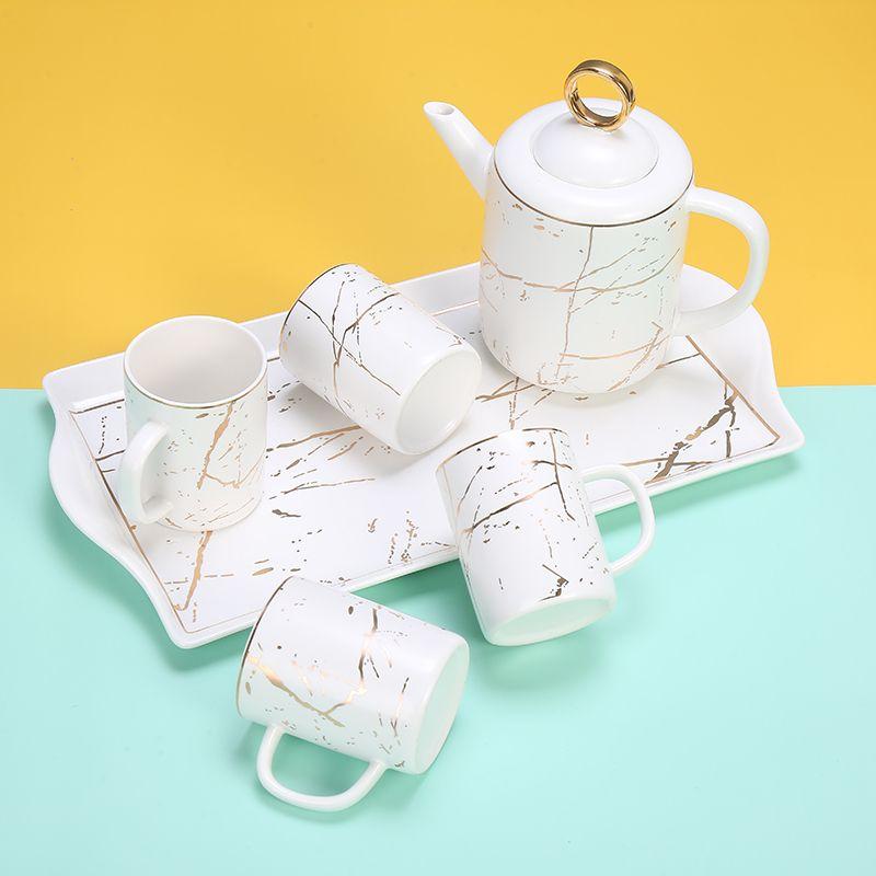 杯子套装一套陶瓷茶具杯具套装喝水杯家用套装客厅咖啡杯茶壶茶杯
