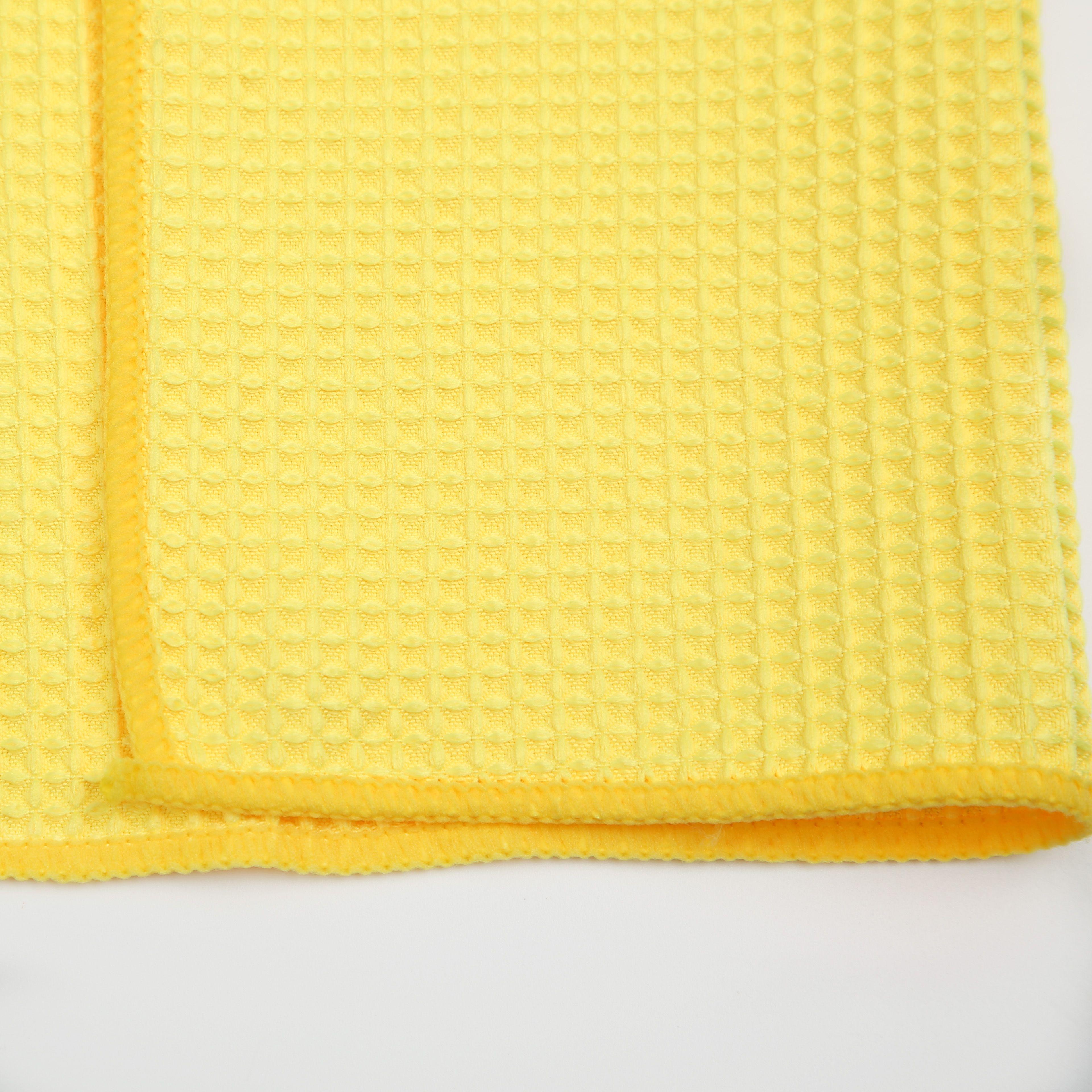 洁丽竹黄色擦车毛巾超强吸水去污强手感柔软舒适不霉不烂做工精细轻便灵活经久耐用玉米粒超细纤维