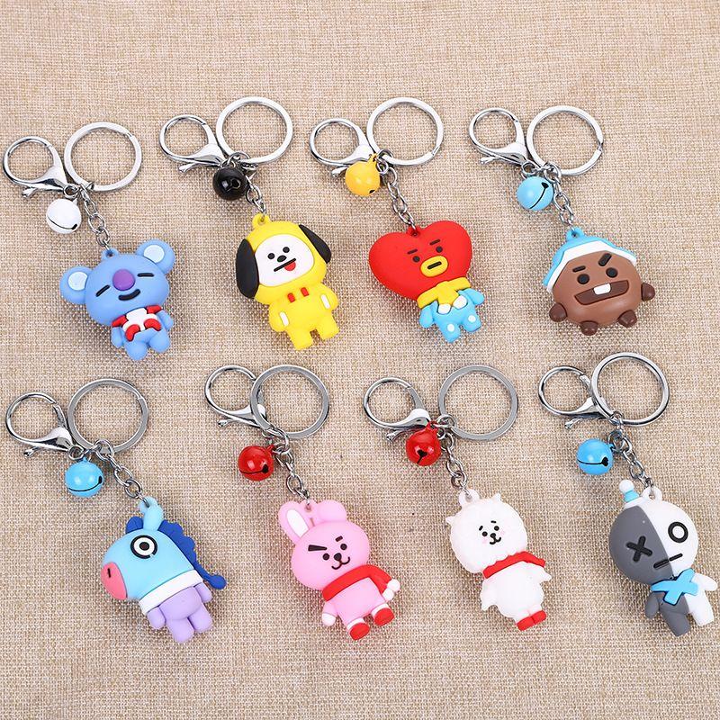 韩国公仔钥匙链书包挂件小礼物 创意可爱卡通钥匙扣挂件