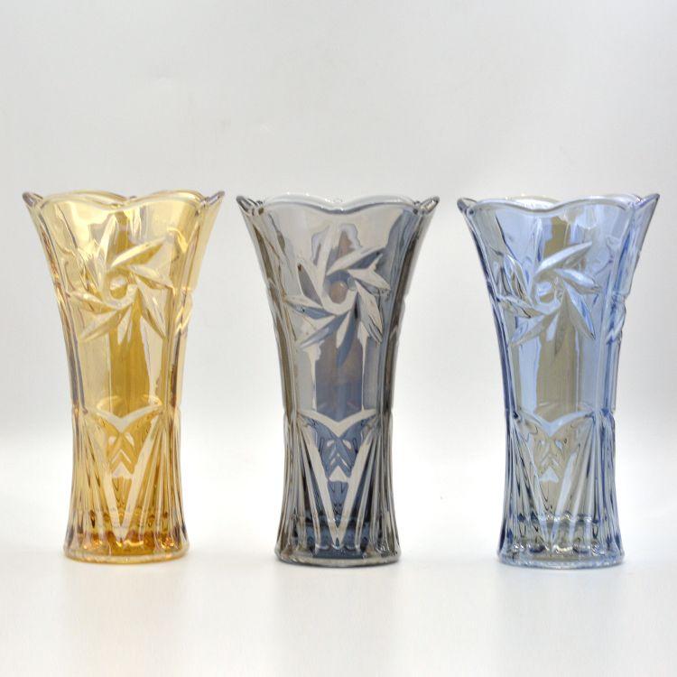 电镀彩色玻璃花瓶hp-14