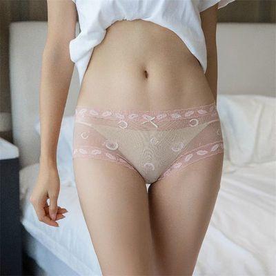 夜妙时尚性感网纱蕾丝豹纹小碎花内裤超...