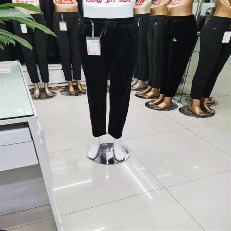 青钰鑫裤业NO84牛奶丝光泽裤外穿打底裤瑜伽薄款女修身小脚九分大码裤子