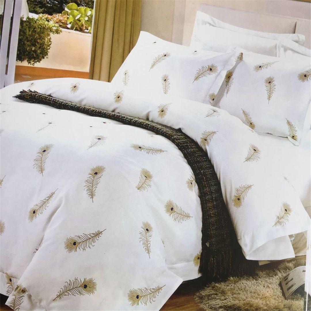 酒店宾馆民宿客房布草纯棉印花喷气床上用品布草四件套酒店被套