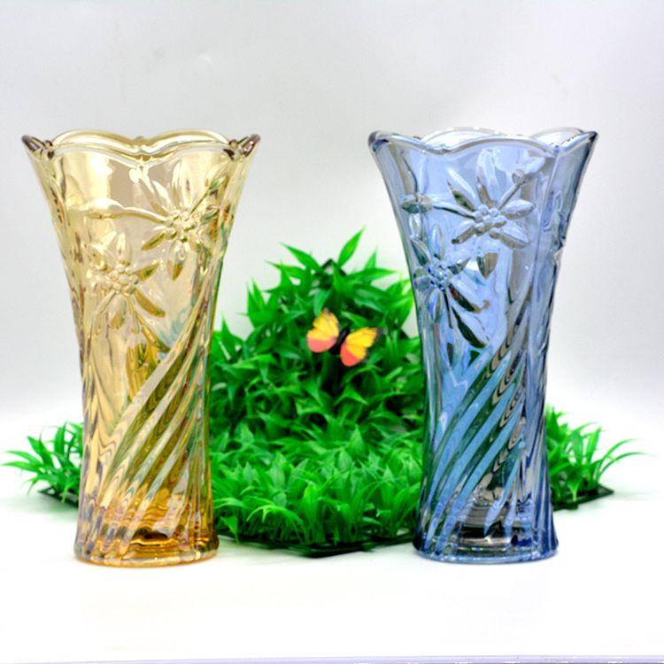 电镀金色玻璃花瓶桌面办公室家用HP-15