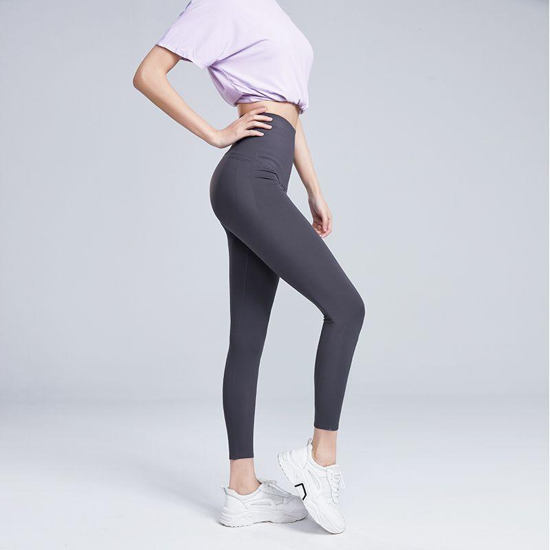 芭比裤高腰九分裤收腹提臀紧身瑜伽裤鲨鱼皮打底裤女士紧身运动裤