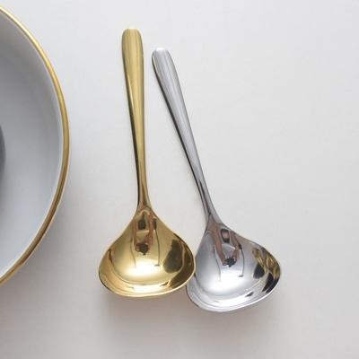 韩式不锈钢加深加厚汤匙 家用喝汤汤勺大头汤匙调羹勺餐勺大匙