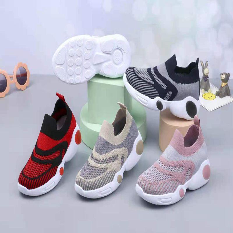 飞织休闲运动鞋减震时尚多色多款男鞋女鞋舒适透气系带防臭鞋44368-588#