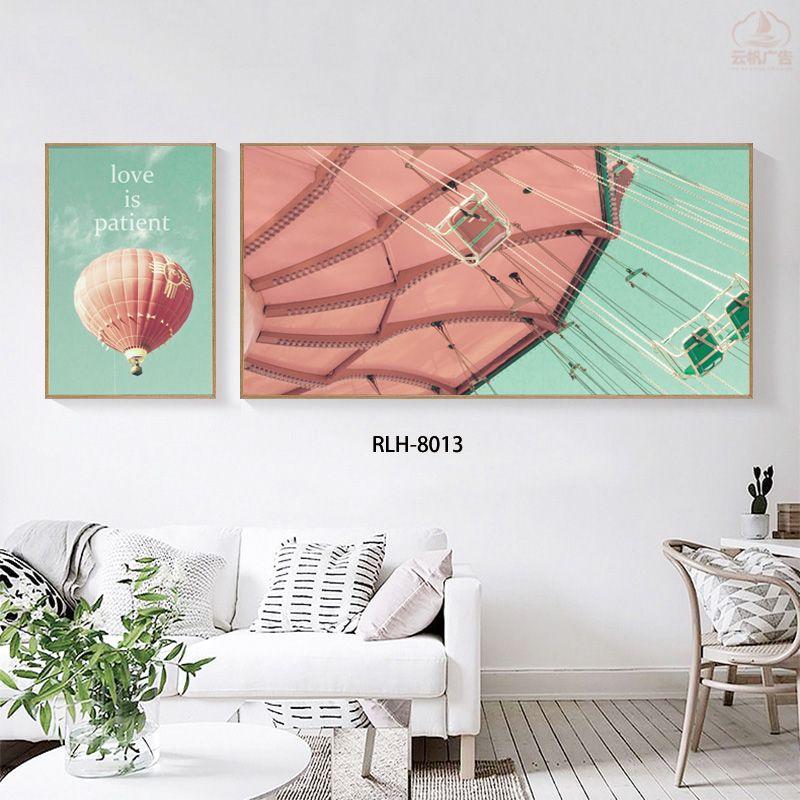 现代轻奢客厅装饰画抽象两联画装饰壁画北欧创意新中式装饰画