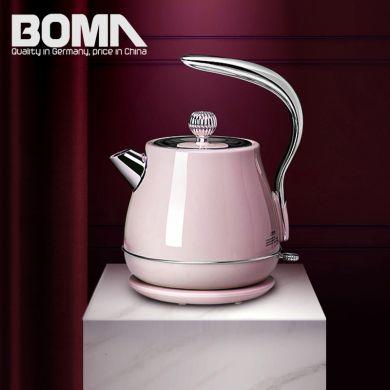 博马品牌 1.7L家用欧式壶304不锈钢自动断电烧水壶电水壶欧式风格