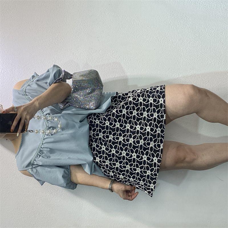 韩版中长款宽松显瘦修身遮肚雪纺夏季新款时尚休闲V领女式连衣裙9