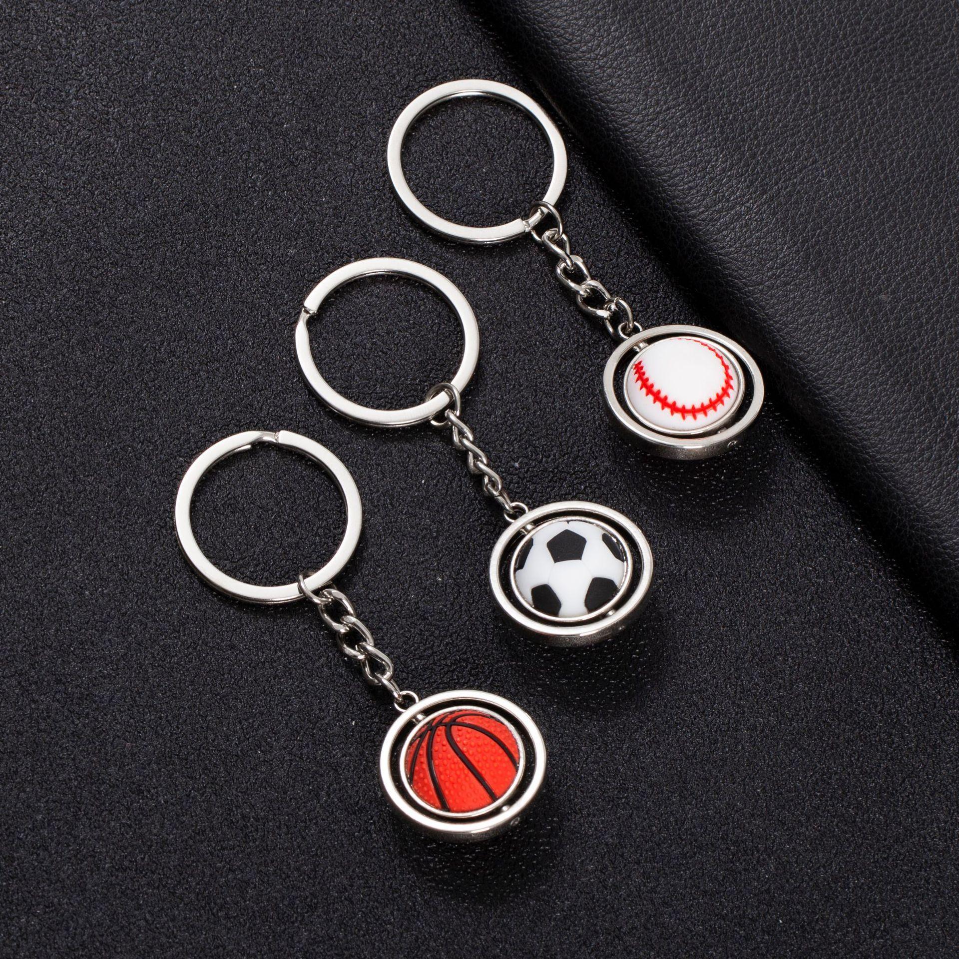 厂家批发篮球足球高尔夫钥匙扣纪念品礼品留念品可转动球类钥匙链