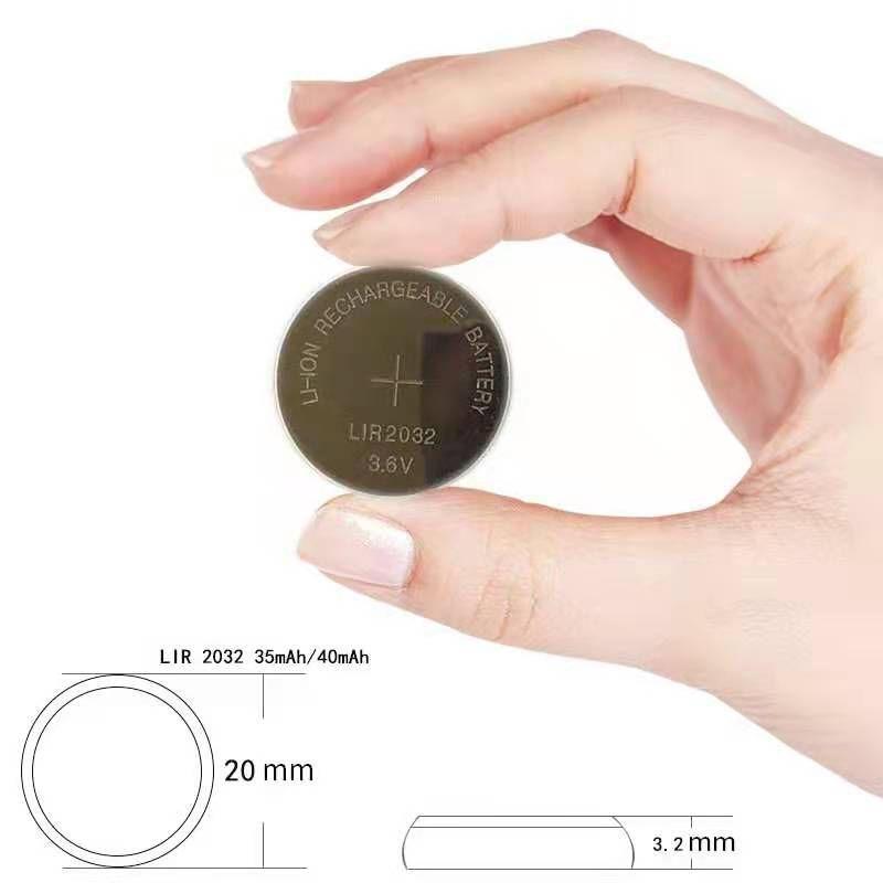 充电纽扣电池LIR2032