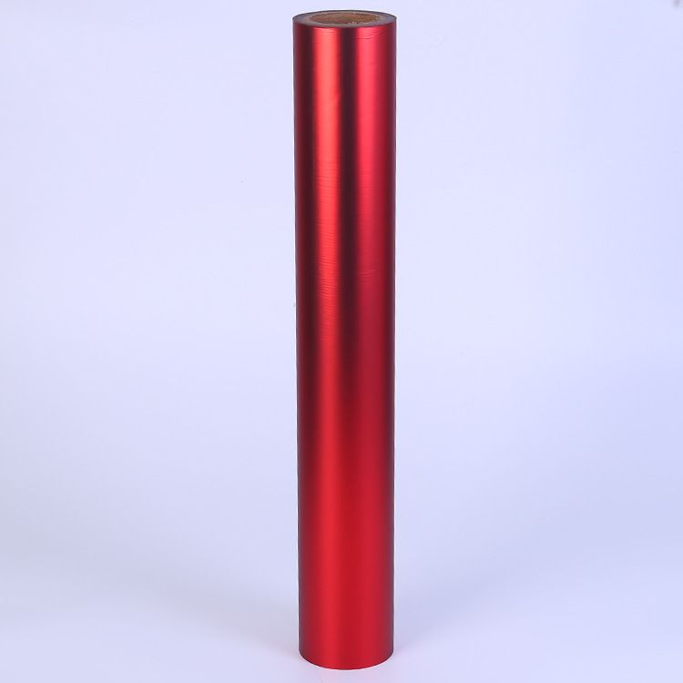 红色哑膜镭射膜批发 优质BOPP包装薄膜 多规格装饰塑料膜 可定制