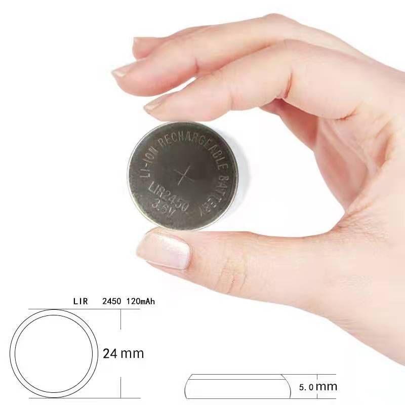 充电纽扣电池LIR2450