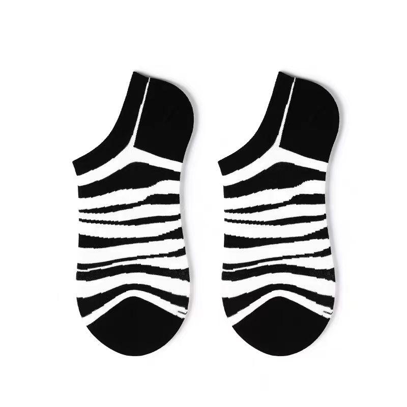 斑马黑白条纹时尚袜子小孩都喜欢韩版潮品袜子