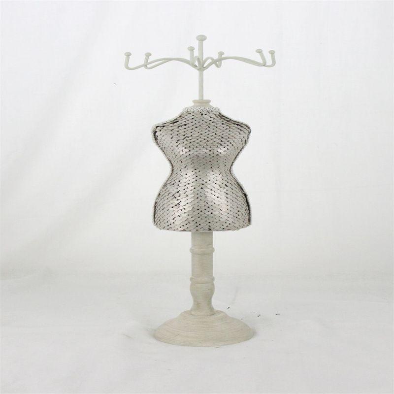 婚纱系列模特首饰架项链耳环饰品架亮片鱼尾公主裙人行模特39CM/2872C