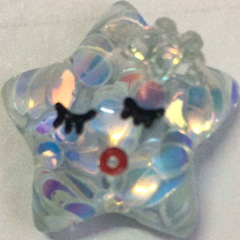 手作手机壳diy网红星星贴片创意头绳外贸手工玩具皮绳可爱装饰