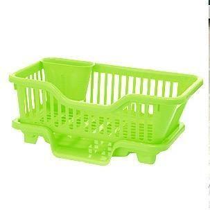 义乌好货 日用百货塑料制品 塑料碗架 小号正面沥水架27706 厨房餐具收纳架